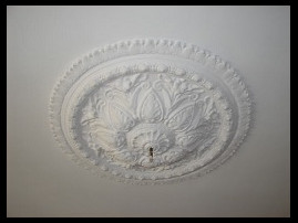 ornamented plaster-type relief