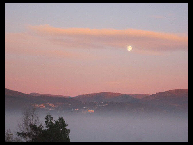 November 8, 2011 - November moon over the Bergen valley