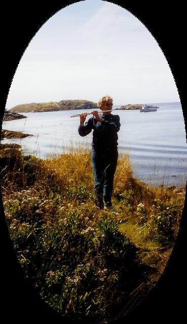 flute on Monhegan Island