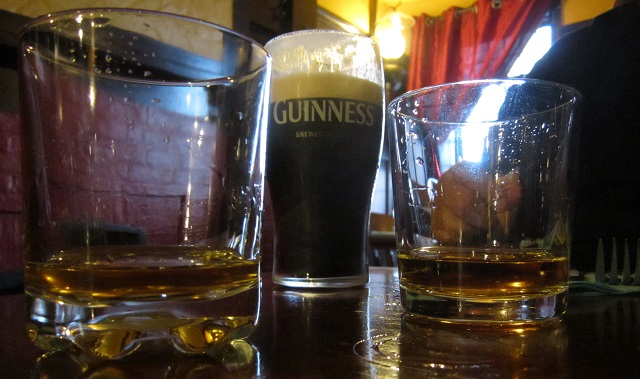 Guinness and Jameson