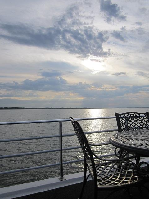 Rathbun Lake sunset view from J&K houseboat