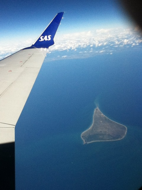 Anholt Island Denmark from the air