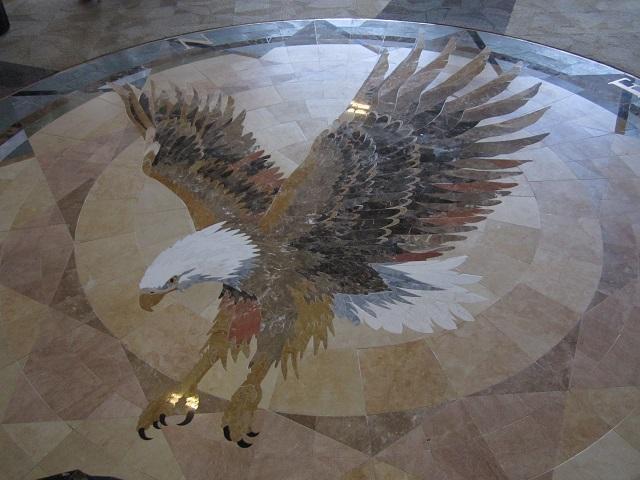 Bridge View Center eagle mosiac