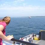 on the ferry to Washington Island