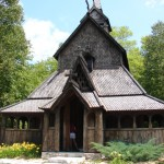 Stave church on Washington Island, Wisconsin