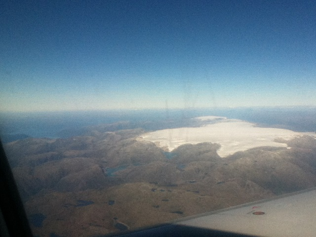 Folgefonni glacier, Norway from the air
