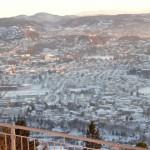 view of Bergen valley from Fløyen - January 14, 2010