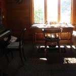 inside composer's hut