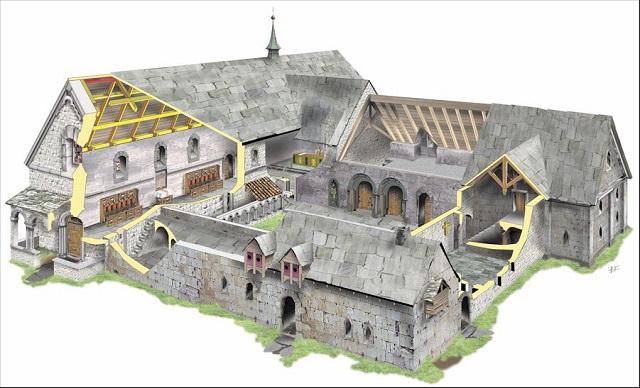Reconstruction image drawn by Bernt Kristiansen