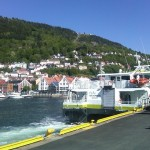 June 6, 2010 - our boat docked in Bergen