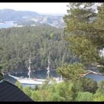 May 25, 2013 - Statraad Lehmkuhl in front of Lysøen