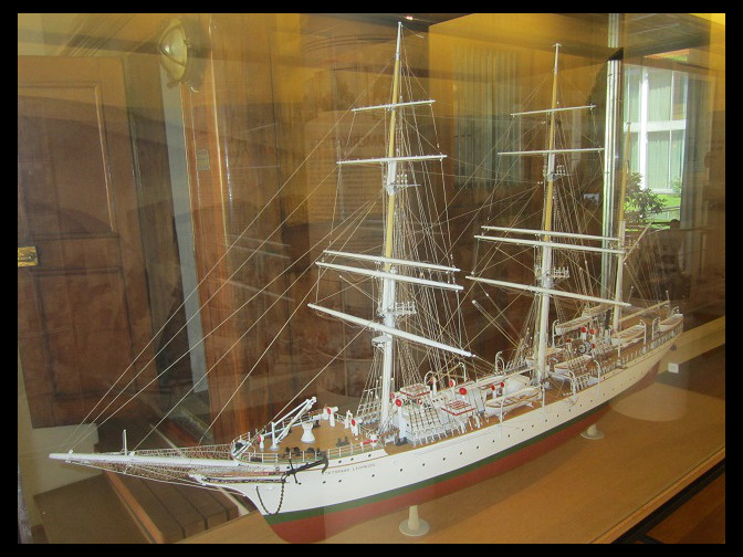 July 12, 2014 - Bergen Maritime Museum Skoleskip/Training Ship exhibit with the Statsraad Lehmkuhl