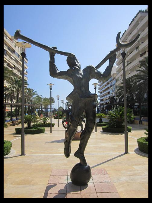 August 14, 2014 - Salvador Dali on Marbella's Avenida Del Mar