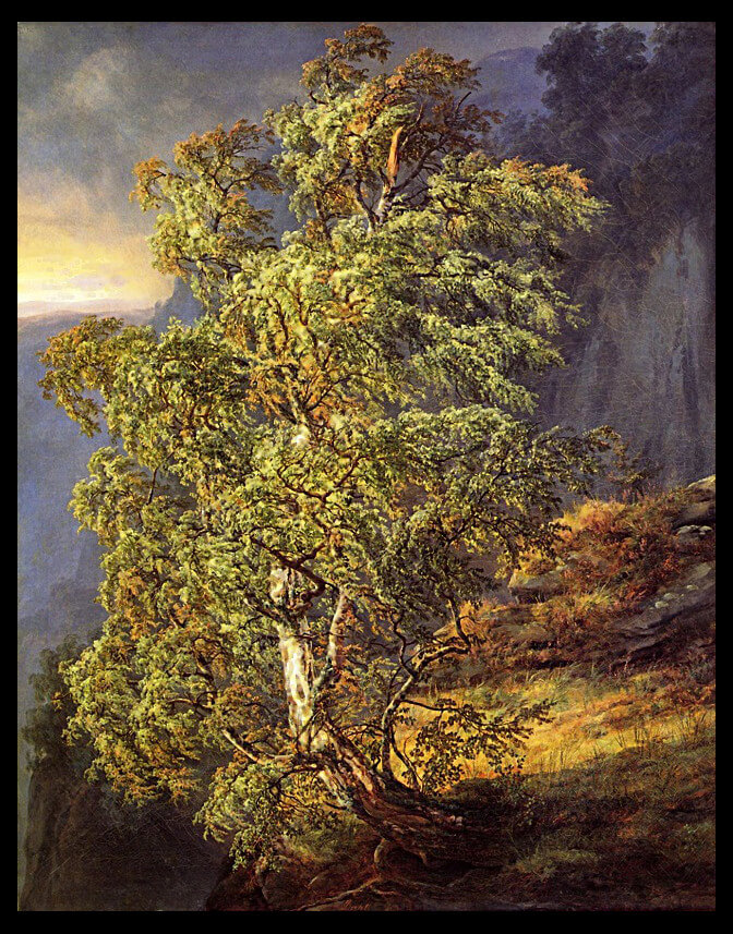 trees - Johan Christian Dahl's Bjerk i storm